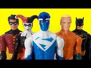DC Super Heroes Harley Quinn, Joker, Robin, Batman, Deadshot, Electric Superman, Aquaman