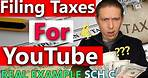 Filling Out Schedule C for (YouTube) Business Taxes Step by Step! (Filing Taxes For YouTube)