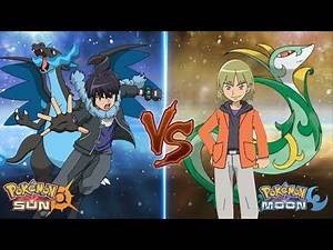 Pokemon Sun and Moon: Alain Vs Trip (Pokemon Rival Battle)