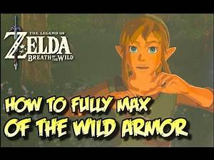 FULLY MAXED OF THE WILD ARMOR [Classic Tunic] Zelda Breath of the Wild