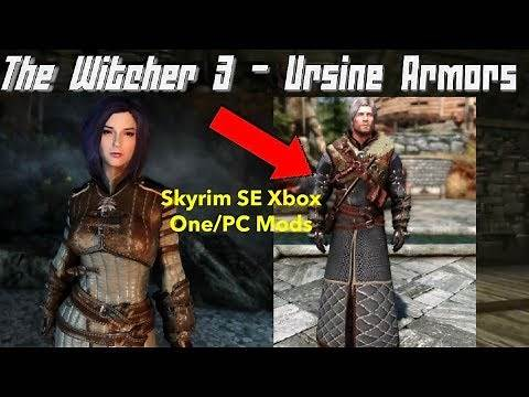 The Witcher 3 - Ursine Armors Skyrim SE Xbox One/PC Mods