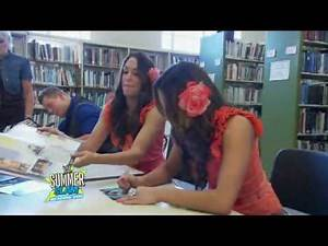 WWE -- The Miz and Bella Twins at the Bridgeport Public Library