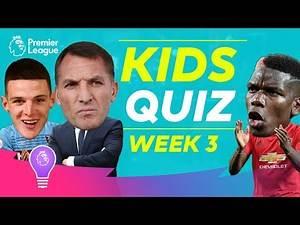 Premier League Kids Quiz | Episode 3