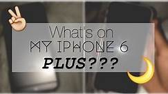 WHATS ON MY IPHONE 6......PLUS!? WHICH IS BETTER THE 6 OR 6 PLUS??