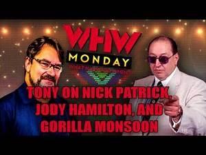 Tony Schiavone shoots on Nick Patrick, Jody Hamilton and Gorilla Monsoon