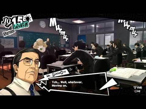 Persona 5 - Epic Dodging the Teacher Chalk! HQ