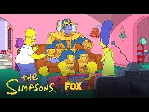 Thanos Visits The Simpsons   Season 30 Ep. 12   THE SIMPSONS