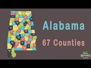 Alabama Counties Geography for Kids