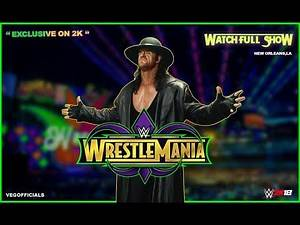 """WWE 2K18 """"Wrestlemania 34 Full show"""" 