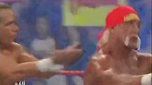 WWE 爆裂震撼2005 Hulk Hogan & Shawn Michaels vs Daivari & Muhammed Hassan