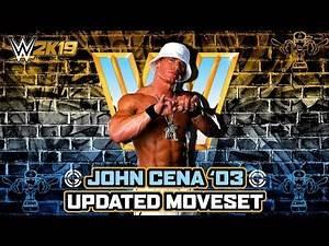 WWE 2K19 John Cena Retro Updated Moveset