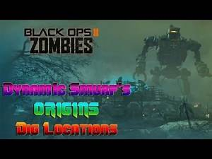 """Call Of Duty: Black Ops 2 Zombies """"Origins"""" Dig Sites"""
