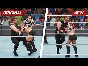 WWE 2K18 Top 10 New Moves Variations (Animations)