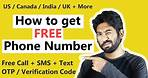 How to get a FREE Phone Number - Free Call & SMS | US / UK / India Number Free from anywhere