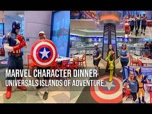 Universal Islands of Adventure Marvel Superhero Character Dining - Orlando Florida
