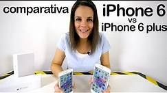 Comparativa iPhone 6 vs iPhone 6 plus en español