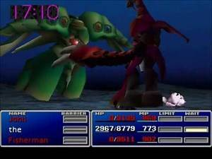 Final Fantasy VII Ruby Weapon fighting Emerald Weapon - Dawn of the Gods III