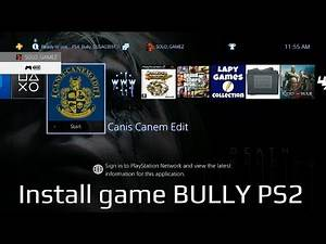 how to install game BULLY PS2 on PS4