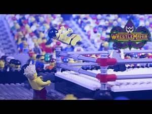 WWE Wrestlemania 34: Seth Rollins vs. The Miz vs. Finn Bálor | Lego Highlights