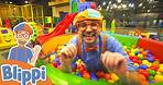 Learning With Blippi At Kinderland Indoor Playground For Kids   Educational Videos For Toddlers
