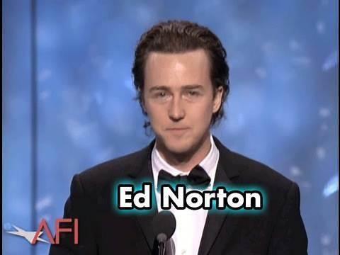 Edward Norton Salutes Robert De Niro at AFI Life Achievement Award