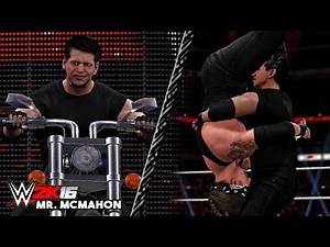 WWE 2K16 - Vince McMahon With American Badass Undertaker Entrance ( Entrance Mash Up)