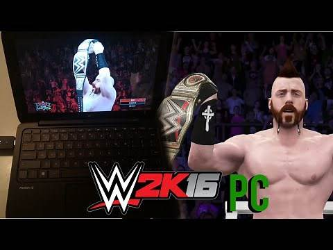 Playing WWE 2K16 On PC with Windows 10! Ft. Roman Reigns vs Sheamus TLC Match!