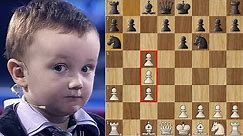 3 Year Old Chess Prodigy Misha vs Anatoly Karpov