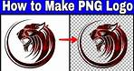How to Make PNG Logo in picsart for Youtube videos   how to make png image