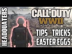 COD WW2 Headquarters 🔥 Easter Eggs Tips & Tricks