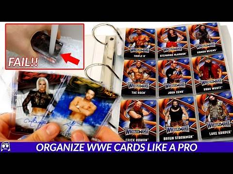How To Organize WWE Topps Trading Cards LIKE A PRO | BTW V1!!