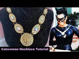 60s Catwoman Necklace made out of Clay!