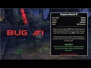 Suprise Attack - Bug #1 - Elder Scrolls Online: Clockwork City