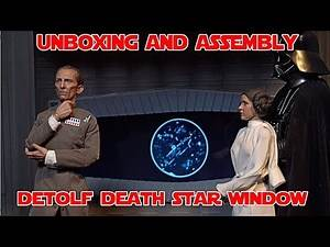 Unboxing and Assembly of Detolf Death Star Window Diorama Background for Tarkin and Vader