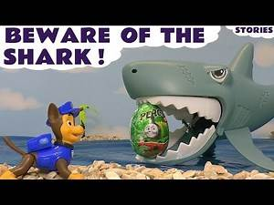 Paw Patrol and Thomas and Friends Beware Of The Shark Surprise Eggs and Toys Story with Minions TT4U