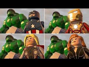 All MCU Avengers Characters HULK THOR Smash in LEGO Marvel Super Heroes