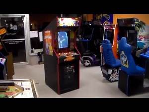 Romstar's DownTown Arcade Game - Cool Rotary Joystick Beat 'em Up