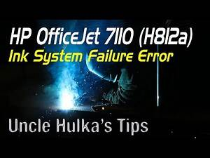 HP OfficeJet 7110 (H812a) Ink System Failure, Printhead Problem