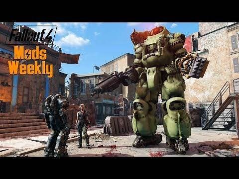 GIANT RIDABLE ROBOTS - Fallout 4 Mods Weekly - Week 77 (PC/Xbox One)