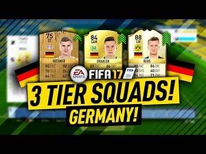 FIFA 17 GERMANY! The 3 Tier Squad Builder w/ REUS! FIFA 17 Ultimate Team!