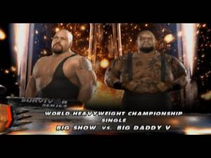 The Big Show vs Big Daddy V | Smackdown vs Raw 2009