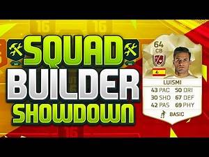 FIFA 16 SQUAD BUILDER SHOWDOWN!!! LEGEND LUISMI!!! Squad Builder Showdown Legend Luismi