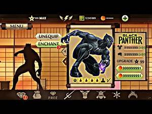 Shadow Fight 2 Black Panther   Free Download