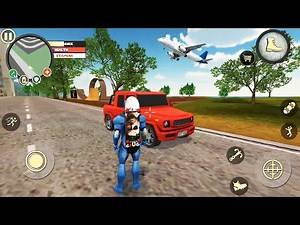 Rope Hero Vice Town (Red jeep Mission)   New Rope Hero Game   Games Kon