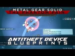 MGSV: The Phantom Pain Antitheft Device Blueprint Location Guide