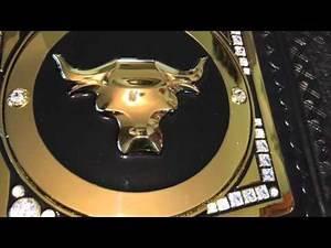 "The Rock ""Brahma Bull"" Side Plates WWE World Heavyweight Championship Replica Belt"