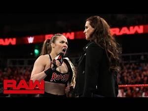 Ronda Rousey wants Becky Lynch at WrestleMania: Raw, Feb. 25, 2019