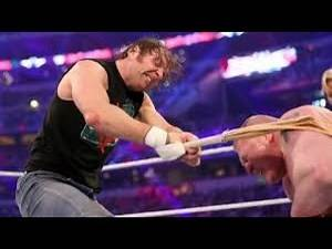 Dean Ambrose totally destroy Brock Lesnar