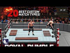 20 Best ever added CUSTOM MATCH TYPES in WWE games!