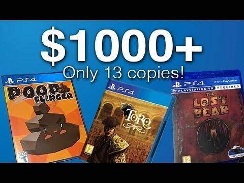 The Rarest, Coolest, and Most Expensive PS4 Games EVER.